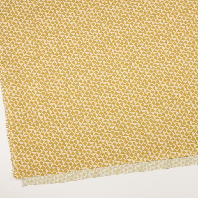 ポリエステル×幾何学模様(アンティークゴールド)×サテン イメージ2