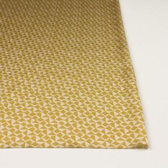 ポリエステル×幾何学模様(アンティークゴールド)×サテン サムネイル3