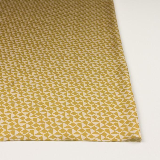 ポリエステル×幾何学模様(アンティークゴールド)×サテン イメージ3