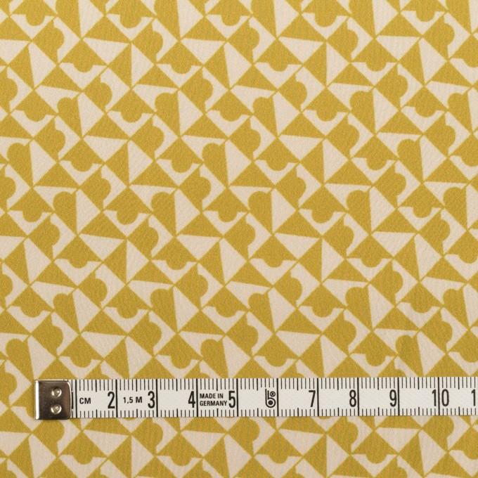 ポリエステル×幾何学模様(アンティークゴールド)×サテン イメージ4