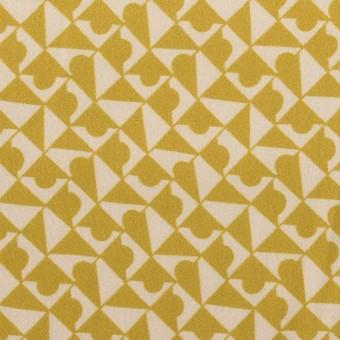 ポリエステル×幾何学模様(アンティークゴールド)×サテン サムネイル1