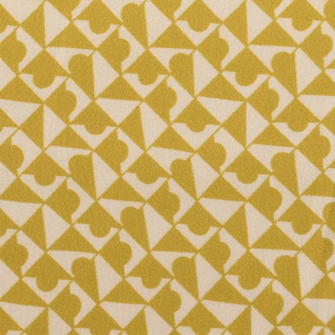 ポリエステル×幾何学模様(アンティークゴールド)×サテン イメージ1