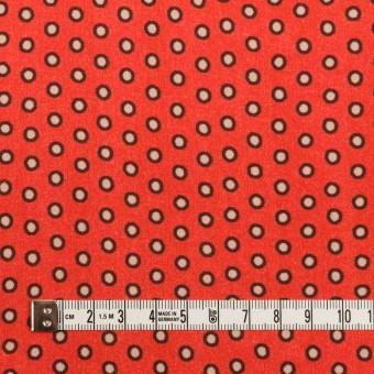 ポリエステル×ドット(ルビーオレンジ)×バックサテン・ジョーゼット サムネイル4