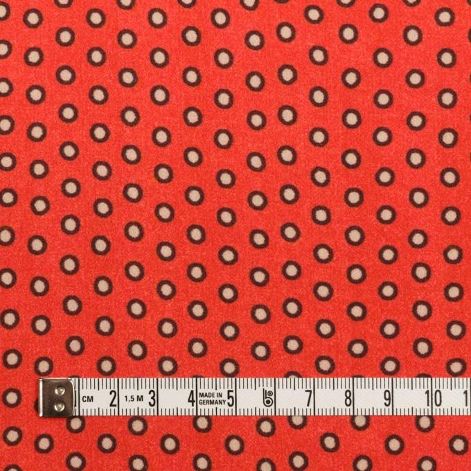 ポリエステル×ドット(ルビーオレンジ)×バックサテン・ジョーゼット イメージ4