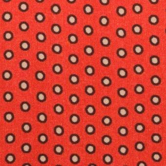 ポリエステル×ドット(ルビーオレンジ)×バックサテン・ジョーゼット サムネイル1
