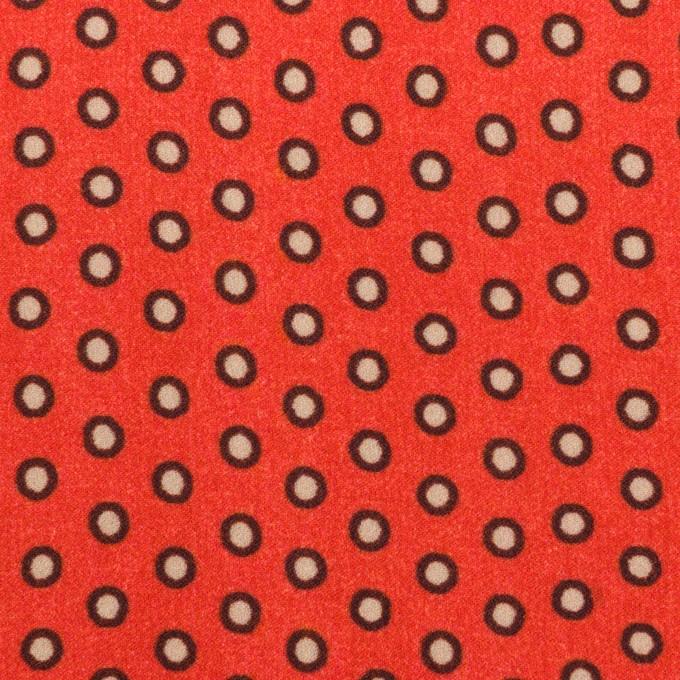 ポリエステル×ドット(ルビーオレンジ)×バックサテン・ジョーゼット イメージ1