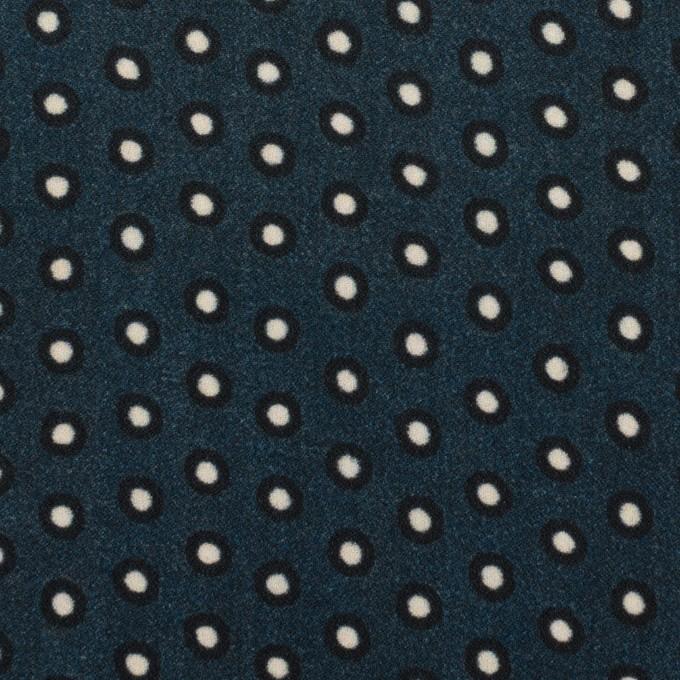 ポリエステル×ドット(プルシアンブルー)×バックサテン・ジョーゼット イメージ1