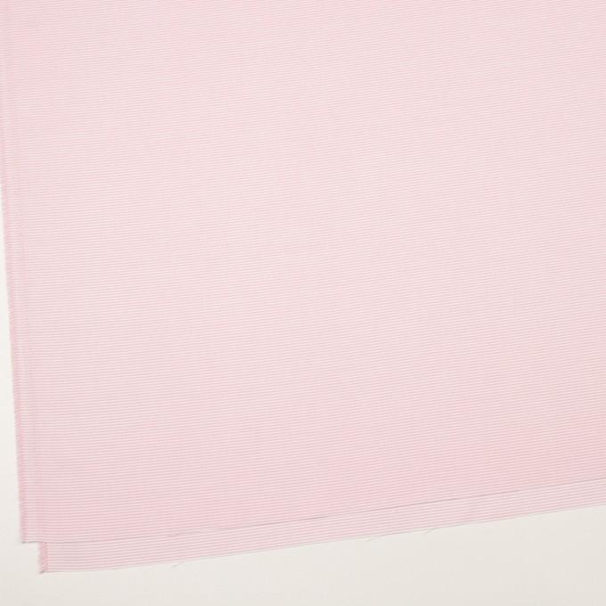 コットン×ボーダー(ピンク)×斜子織 イメージ2