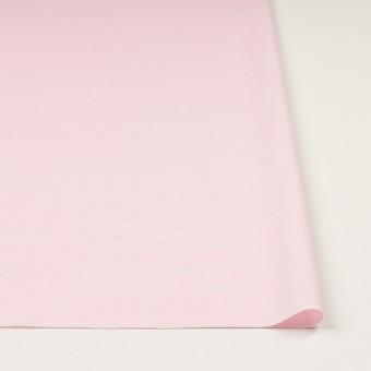コットン×ボーダー(ピンク)×斜子織 サムネイル3