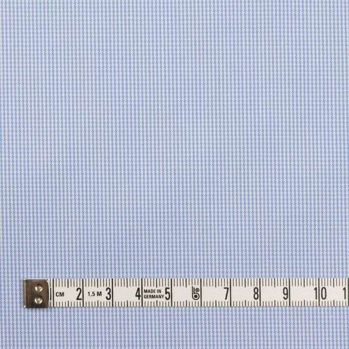 コットン×チェック(サックス)×千鳥格子 イメージ4