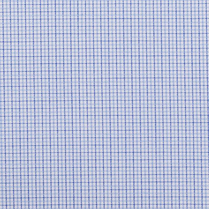 コットン×チェック(サックス)×ブロードジャガード イメージ1