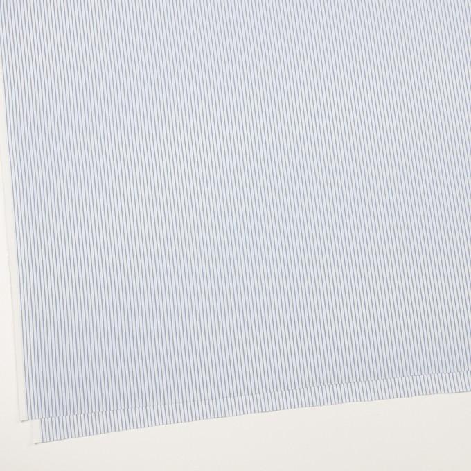 コットン&ポリエステル混×ストライプ(ヒヤシンスブルー&アボカド)×ローンストレッチ イメージ2