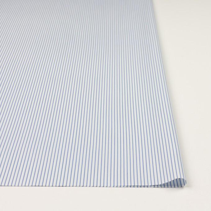 コットン&ポリエステル混×ストライプ(ヒヤシンスブルー&アボカド)×ローンストレッチ イメージ3
