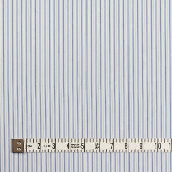 コットン&ポリエステル混×ストライプ(ヒヤシンスブルー&アボカド)×ローンストレッチ サムネイル4