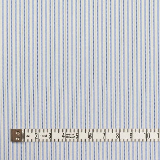 コットン&ポリエステル混×ストライプ(ヒヤシンスブルー&アボカド)×ローンストレッチ イメージ4