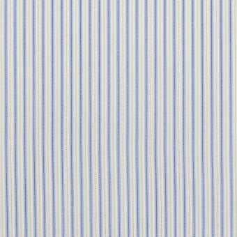 コットン&ポリエステル混×ストライプ(ヒヤシンスブルー&アボカド)×ローンストレッチ