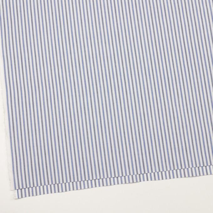 コットン×ストライプ(ブルー&チャコール)×タイプライター(高密ローン)・ワッシャー イメージ2