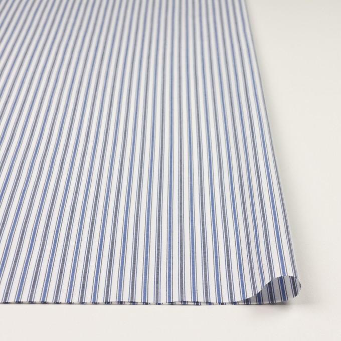 コットン×ストライプ(ブルー&チャコール)×タイプライター(高密ローン)・ワッシャー イメージ3