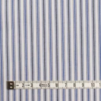 コットン×ストライプ(ブルー&チャコール)×タイプライター(高密ローン)・ワッシャー サムネイル4