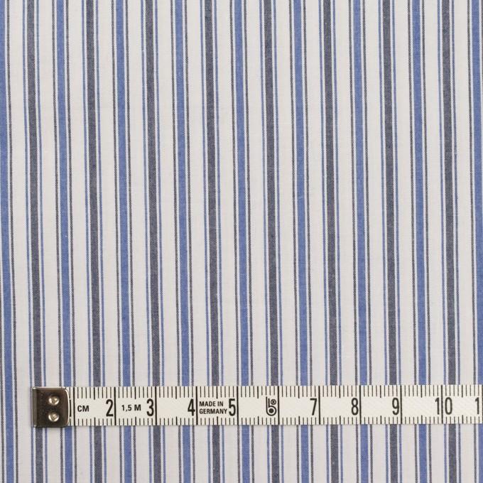 コットン×ストライプ(ブルー&チャコール)×タイプライター(高密ローン)・ワッシャー イメージ4