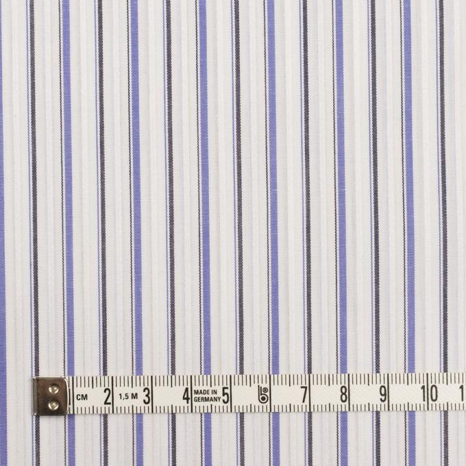 コットン×ストライプ(ラベンダーブルー&チャコール)×ブロードジャガード イメージ4