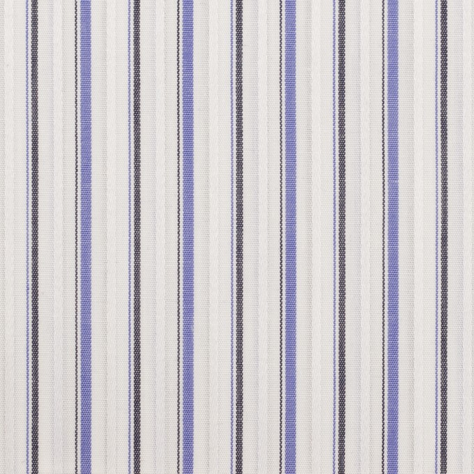 コットン×ストライプ(ラベンダーブルー&チャコール)×ブロードジャガード イメージ1