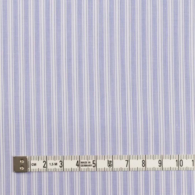 コットン×ストライプ(ヒヤシンスブルー)×ブロード_イタリア製 イメージ4