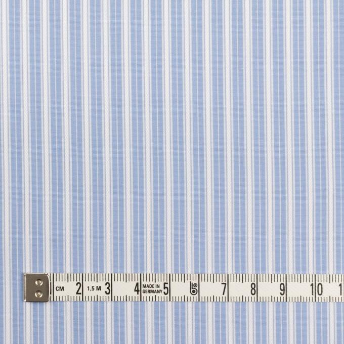 コットン×ストライプ(サックス)×ブロードジャガード_イタリア製 イメージ4