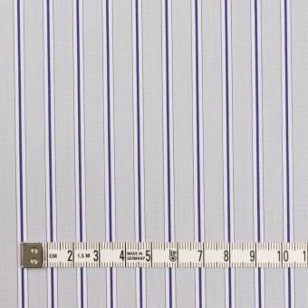 コットン×ストライプ(ストーングレー&ネイビー)×ブロード サムネイル4