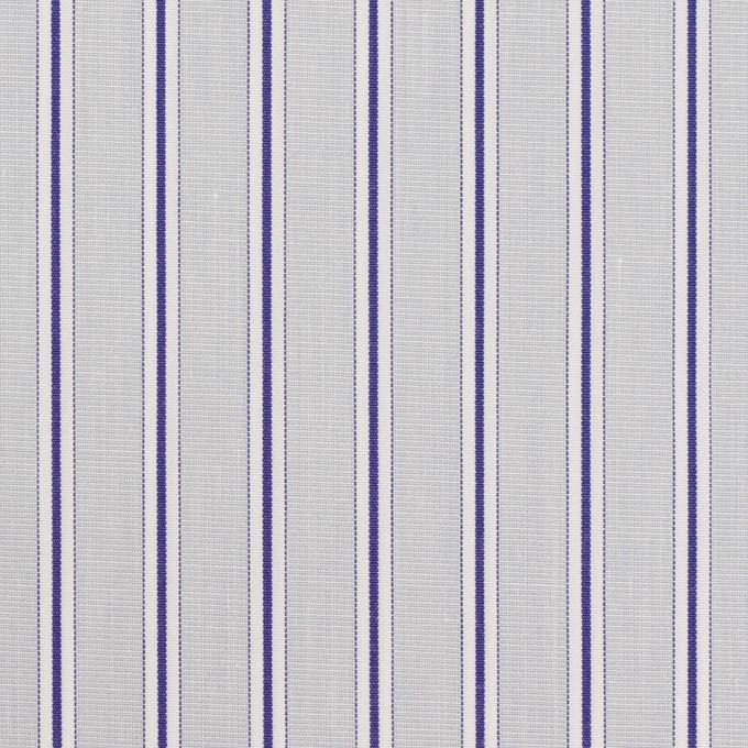 コットン×ストライプ(ストーングレー&ネイビー)×ブロード イメージ1