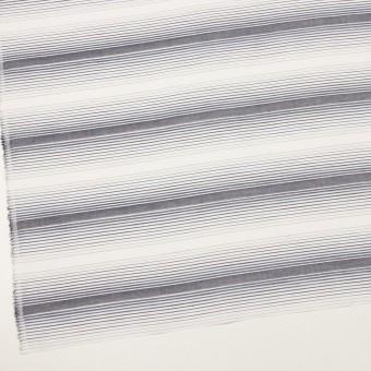 コットン×ボーダー(アッシュネイビー)×ブロードジャガード サムネイル2