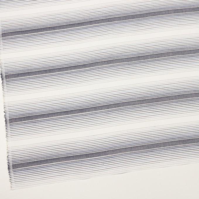 コットン×ボーダー(アッシュネイビー)×ブロードジャガード イメージ2