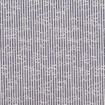 コットン×ストライプ(アッシュネイビー)×ブロードジャガード_全2色
