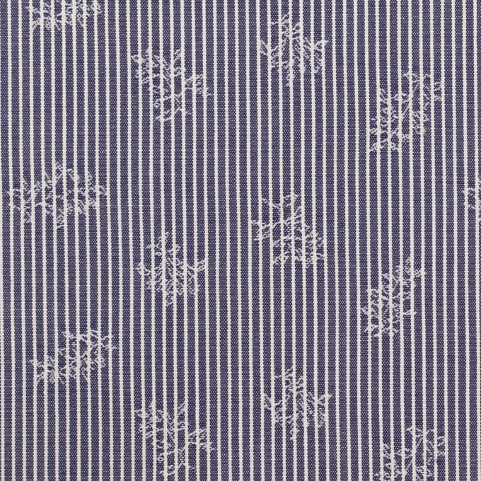 コットン×ストライプ(アッシュネイビー)×ブロードジャガード_全2色 イメージ1