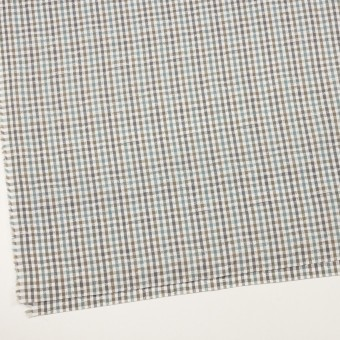コットン×チェック(アンティークグリーン&カーキ)×ブロードジャガード_全2色 サムネイル2