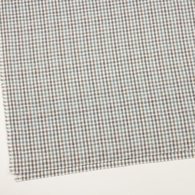 コットン×チェック(アンティークグリーン&カーキ)×ブロードジャガード_全2色 イメージ2
