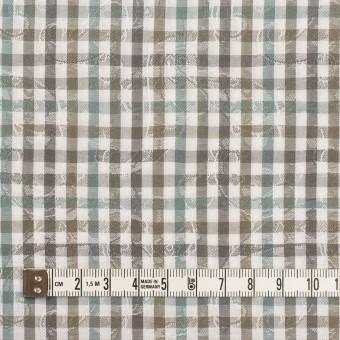 コットン×チェック(アンティークグリーン&カーキ)×ブロードジャガード_全2色 サムネイル4