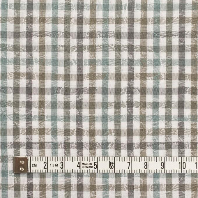 コットン×チェック(アンティークグリーン&カーキ)×ブロードジャガード_全2色 イメージ4