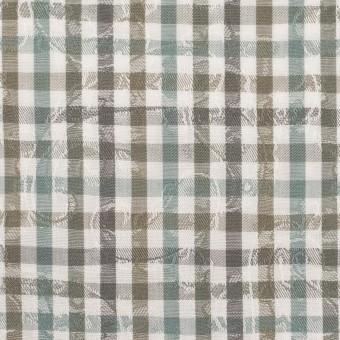 コットン×チェック(アンティークグリーン&カーキ)×ブロードジャガード_全2色