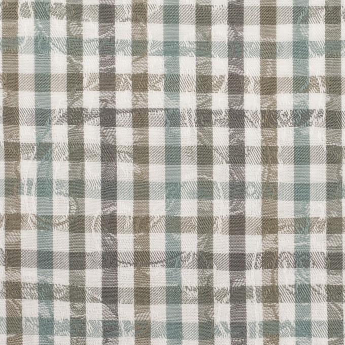 コットン×チェック(アンティークグリーン&カーキ)×ブロードジャガード_全2色 イメージ1