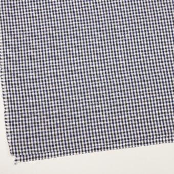 コットン×チェック(ネイビー&チャコールグレー)×ブロードジャガード_全2色 サムネイル2
