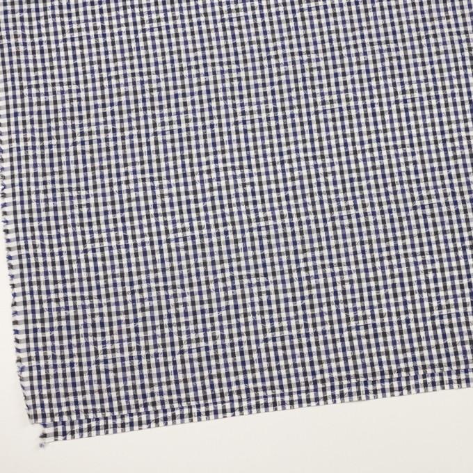 コットン×チェック(ネイビー&チャコールグレー)×ブロードジャガード_全2色 イメージ2