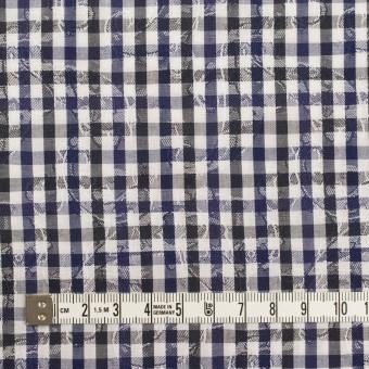 コットン×チェック(ネイビー&チャコールグレー)×ブロードジャガード_全2色 サムネイル4