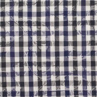 コットン×チェック(ネイビー&チャコールグレー)×ブロードジャガード_全2色