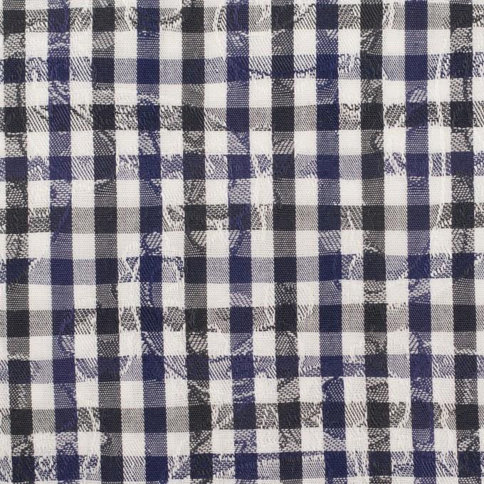 コットン×チェック(ネイビー&チャコールグレー)×ブロードジャガード_全2色 イメージ1