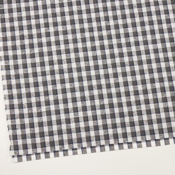 コットン×チェック(チャコールグレー&ネイビー)×ブロードジャガード_全2色 イメージ2