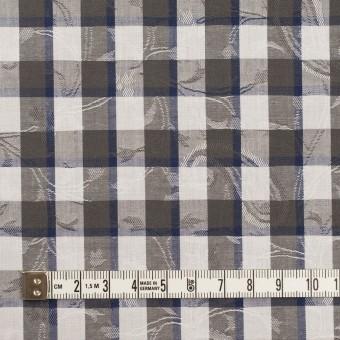 コットン×チェック(チャコールグレー&ネイビー)×ブロードジャガード_全2色 サムネイル4