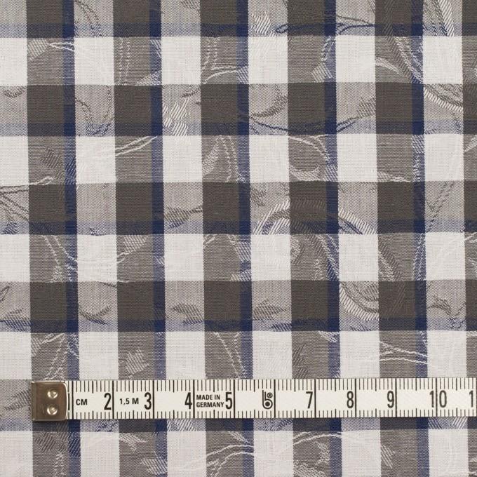 コットン×チェック(チャコールグレー&ネイビー)×ブロードジャガード_全2色 イメージ4