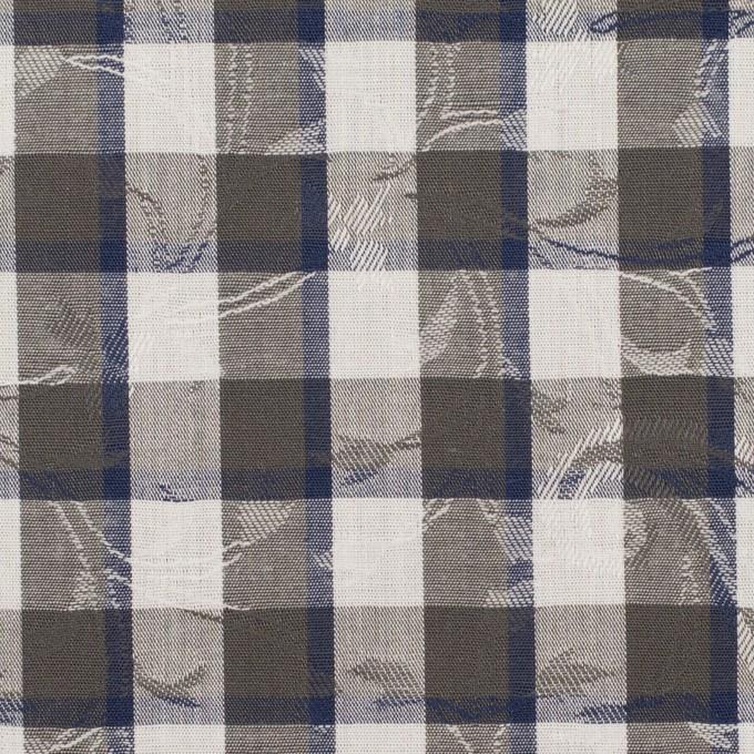 コットン×チェック(チャコールグレー&ネイビー)×ブロードジャガード_全2色 イメージ1