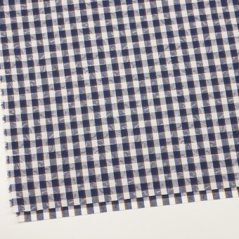 コットン×チェック(ネイビー&ブラウン)×ブロードジャガード_全2色 サムネイル2